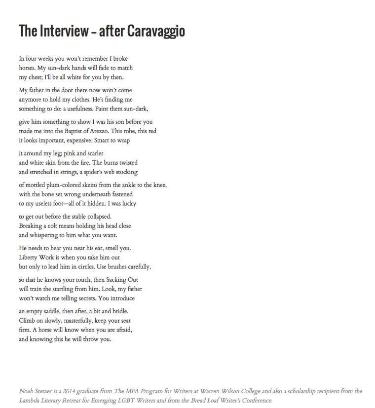 Interview-Caravaggio